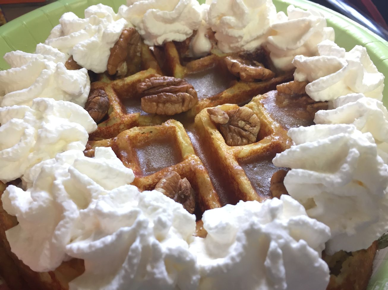 Banana Waffles with Browned Butter Bananas Foster syrup - Low Carb ...